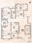 天煜・紫悦城3室2厅1卫131平方米户型图