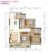 城市名庭3室2厅2卫102平方米户型图