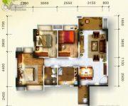 东田山畔华庭3室1厅1卫0平方米户型图