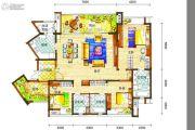 新鸿基悦城3室2厅3卫172平方米户型图