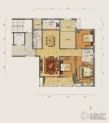 勒泰城3室2厅2卫150平方米户型图