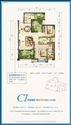 国奥村2室2厅1卫81平方米户型图