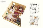 碧桂园十里银滩2室2厅1卫69--70平方米户型图