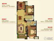 明月湾3室2厅1卫96--105平方米户型图