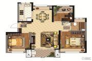 同润金色橘苑3室2厅1卫90平方米户型图