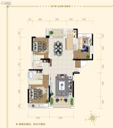 湘潭・奥园冠军城3室2厅2卫127平方米户型图