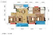 碧桂园城市花园4室2厅2卫141平方米户型图