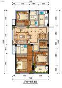 佳源・优优锦城4室2厅2卫0平方米户型图