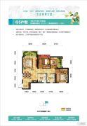 惠丰瑞城3室2厅1卫93平方米户型图