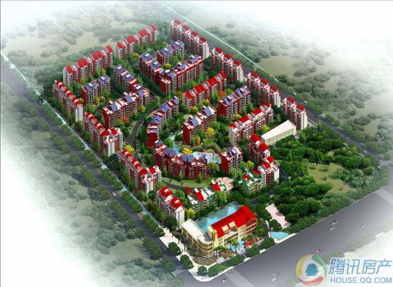 杜鹃城项目鸟瞰图