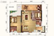 达达公馆2室2厅1卫80平方米户型图