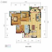 锦汇城3室2厅1卫89平方米户型图