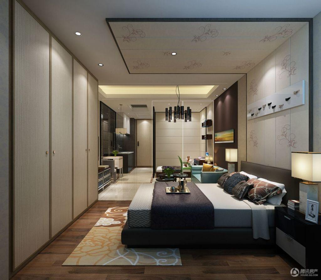 烟台五洲国际商贸城小公寓卧室效果图