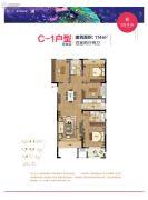 雍华府4室2厅2卫114平方米户型图