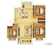 钓鱼一�院3室2厅1卫99平方米户型图