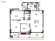 宝华轩3室2厅1卫101平方米户型图