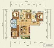 宜化・巴黎香颂3室2厅2卫122平方米户型图