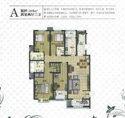 现代颐和苑4室2厅3卫208平方米户型图