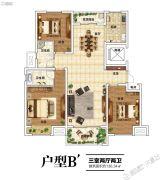 建业北海森林半岛3室2厅2卫136平方米户型图