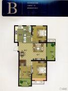 华明星海湾3室2厅1卫106--107平方米户型图