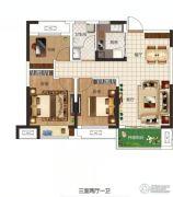东润玺城3室2厅1卫88平方米户型图