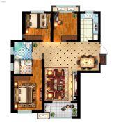 丽景湾华庭3室2厅2卫128平方米户型图