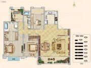 汉中新城吾悦广场3室2厅2卫194平方米户型图