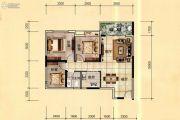 天立国际3室2厅1卫92平方米户型图