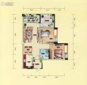 民福旌城天际2室2厅1卫98平方米户型图