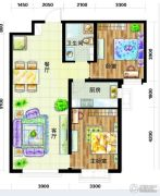天庆国际新城2室2厅1卫94平方米户型图