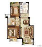 东渡伊顿小镇2室2厅1卫80平方米户型图