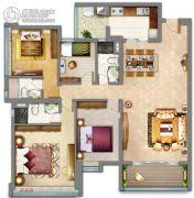 祈福缤纷汇4室2厅3卫163平方米户型图