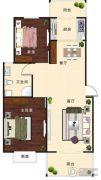 汇仙湖・金水湾2室2厅1卫95平方米户型图
