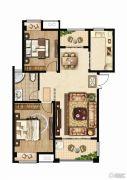 同科・汇丰国际2室2厅1卫95平方米户型图