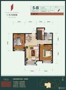 汇福悦榕湾2室2厅1卫86平方米户型图
