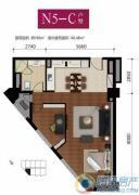 华远九都汇2室2厅1卫89平方米户型图