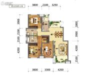国鑫凤垭山3室2厅2卫125平方米户型图