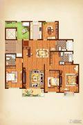 荣记玖珑湾4室2厅3卫194平方米户型图