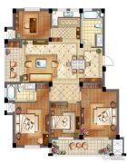 滨江丽景4室2厅2卫145平方米户型图