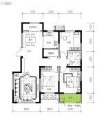民生城・逸兰汐3室2厅1卫116平方米户型图