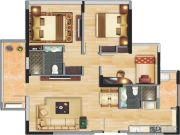 中央财津3室2厅2卫0平方米户型图