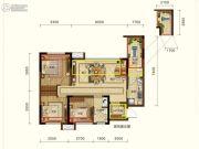 润扬观澜鹭岛3室2厅1卫72平方米户型图