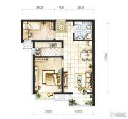 首开熙悦山熹园2室1厅1卫68平方米户型图