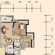 文华豪庭3室2厅1卫75平方米户型图