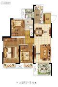 东润城3室2厅1卫95平方米户型图