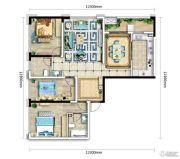 万科银海泊岸3室2厅2卫126平方米户型图