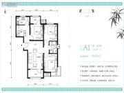 北京怡园2室2厅1卫95平方米户型图