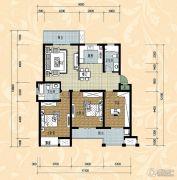 国际华城四期3室2厅2卫124平方米户型图