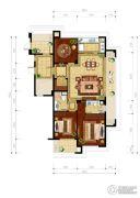 绿城・玉兰花园3室2厅2卫137平方米户型图