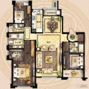 保利海德公馆4室2厅3卫203平方米户型图